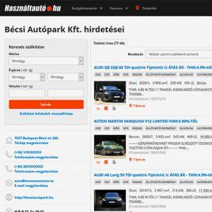 Bécsi Autópark használtautó hirdetései a hasznaltautok.hu-n Autófelvásárlás, használtautó felvásárlás